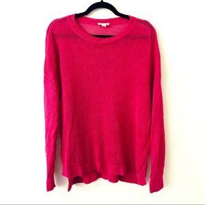 EILEEN FISHER Hot Pink Linen Sweater